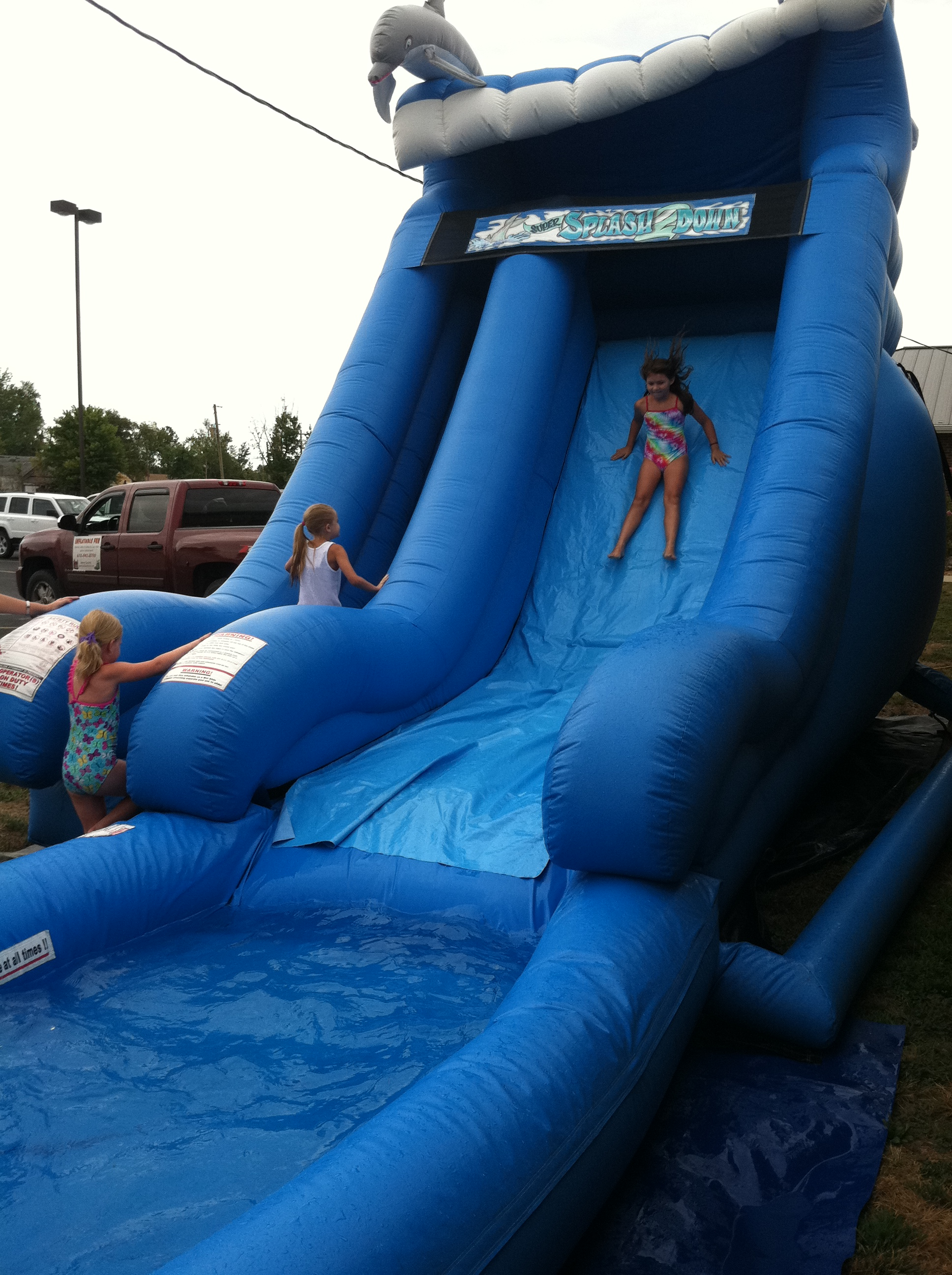 Dolphin Wave Slide – Inflatable Fun